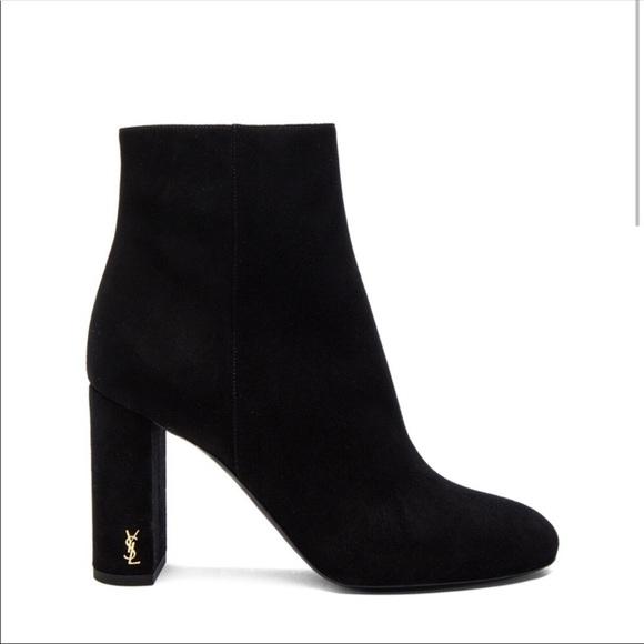 8add8e4bb6 Saint Laurent YSL Loulou black suede boots 39